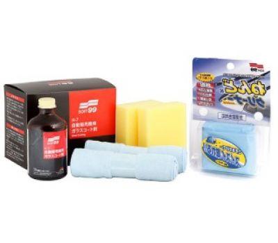 Купить Жидкое стекло Soft99 h7 + Surface Smoother Mini абразивная глина для очистки кузова