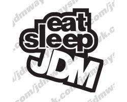 Sticker bombing | Стикербомбинг Eat Sleep Jdm
