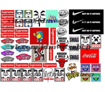 Купить Sticker bombing   Стикербомбинг SET 9
