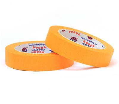 EUROCEL Маскирующая термостойкая лента 25мм*40м, оранжевая