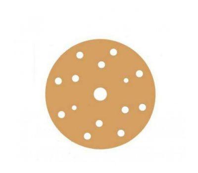 Sunmight Шлифовальный круг GOLD 150мм на липучке, 15 отв, золотистый Р320