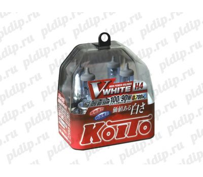 Купить Koito V WHITE H4 60/55 W = 100/90W 3700 K