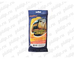 """Влажные салфетки для ухода за кожаными поверхностями автомобиля """"Чистая кожа"""" Ombra"""