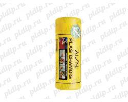 Замша искусственная (маленькая) Жёлтая, 34 х 43 см Plas Chamois