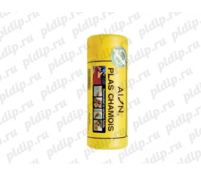 Купить Замша искусственная (маленькая) Жёлтая, 34 х 43 см Plas Chamois