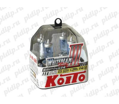 Купить Koito Whitebeam III H4 60/55 W = 135/125W 4200 K